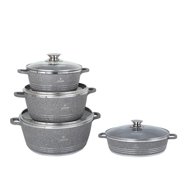 Life Smile 8PCS Aluminium Cookware Set