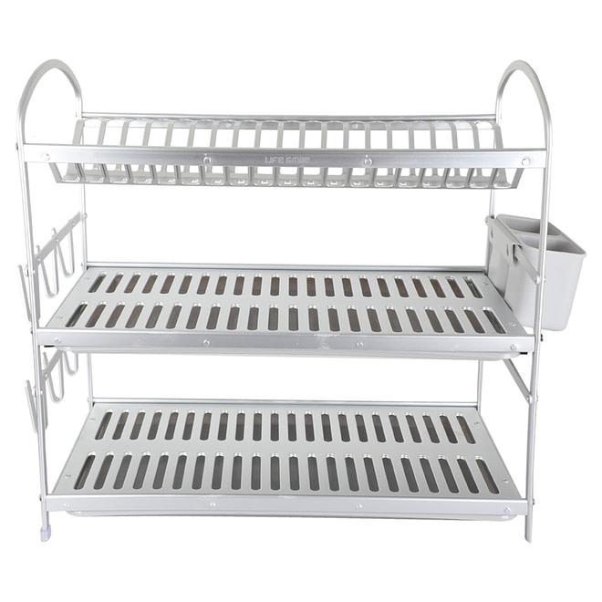 Life Smile 3 Tier Aluminium Dish Rack