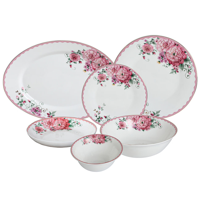Life Smile 27PCS Opalware Dinner Set