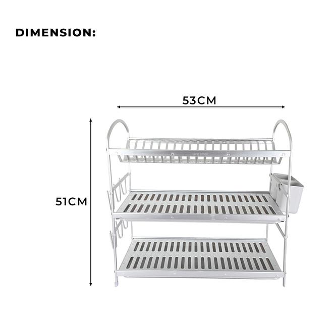 3 Tier Aluminium Dish Rack [DSH-14]