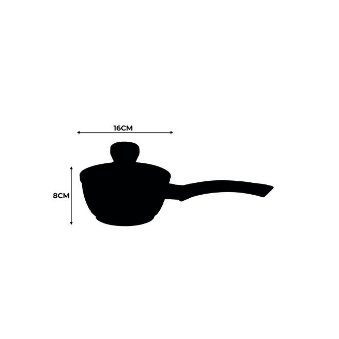 16CM Non Stick Sauce Pan [FLCMSAU-16]