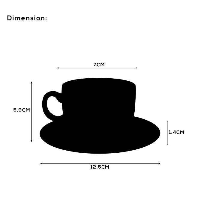 Opal ware Coffee Cup Set [OP-12CO-6]