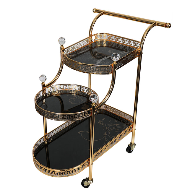 Life Smile Golden Serving Trolly