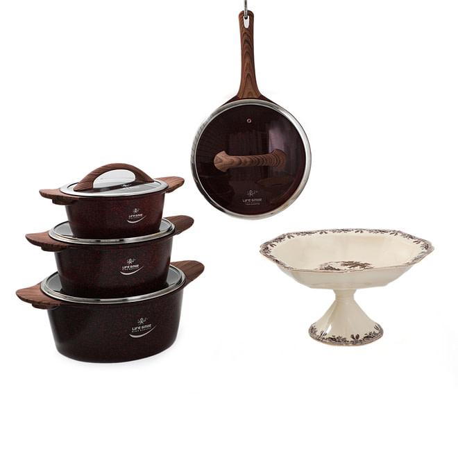 Lifesmile Buy 1 Cookware Set Get Fruit Bowl Free