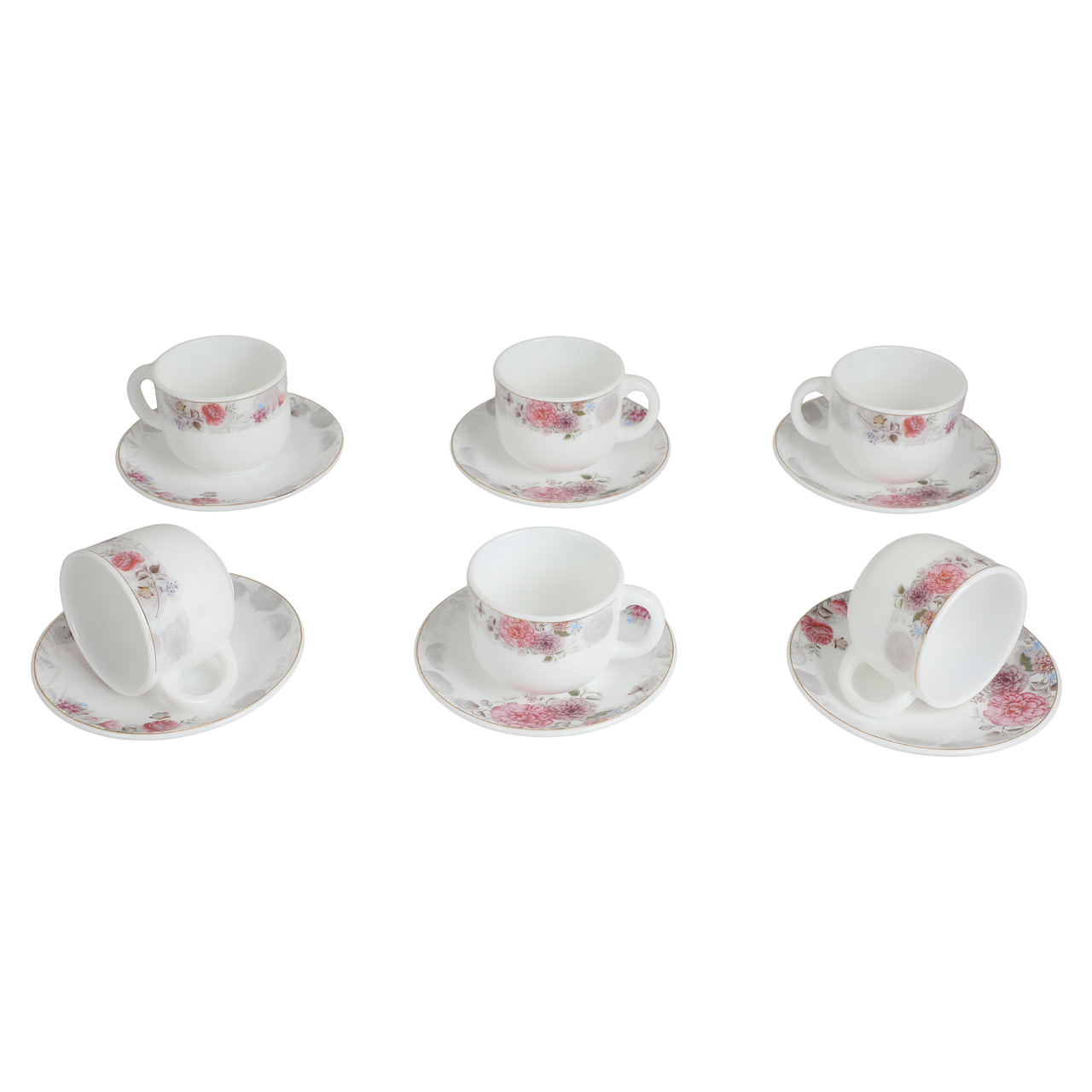 Life Smile Opal ware Coffee Cup Set
