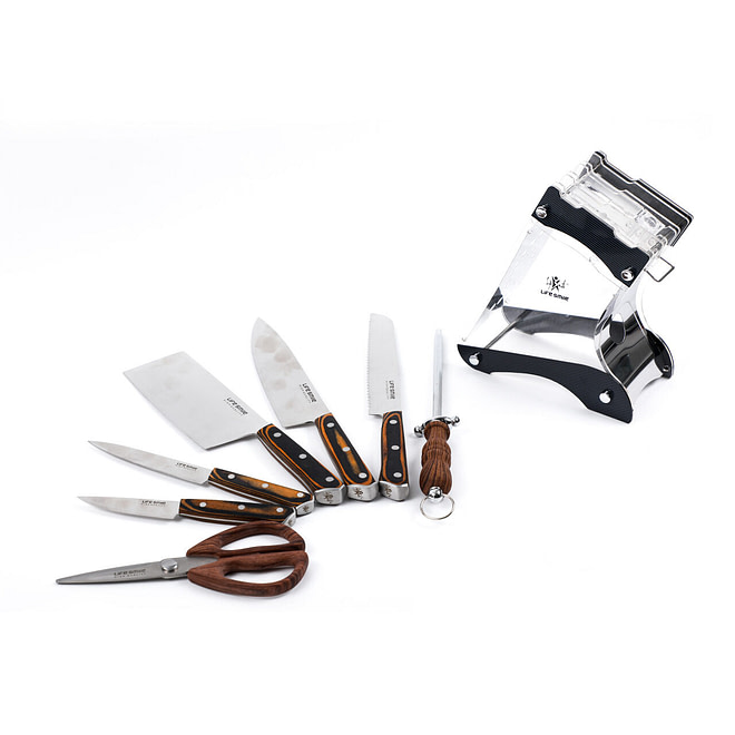 Life Smile 8PCS Stainless Steel Knife Set