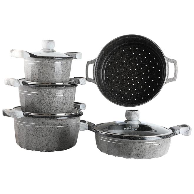 life smile non stick granite coating cookware set